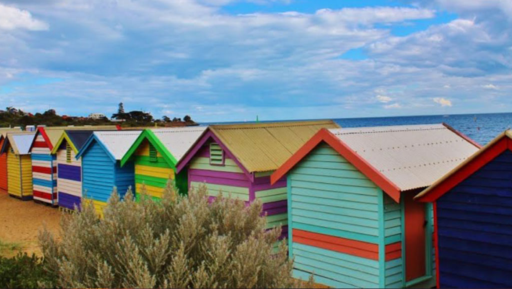 Painted Beach Houses at Brighton